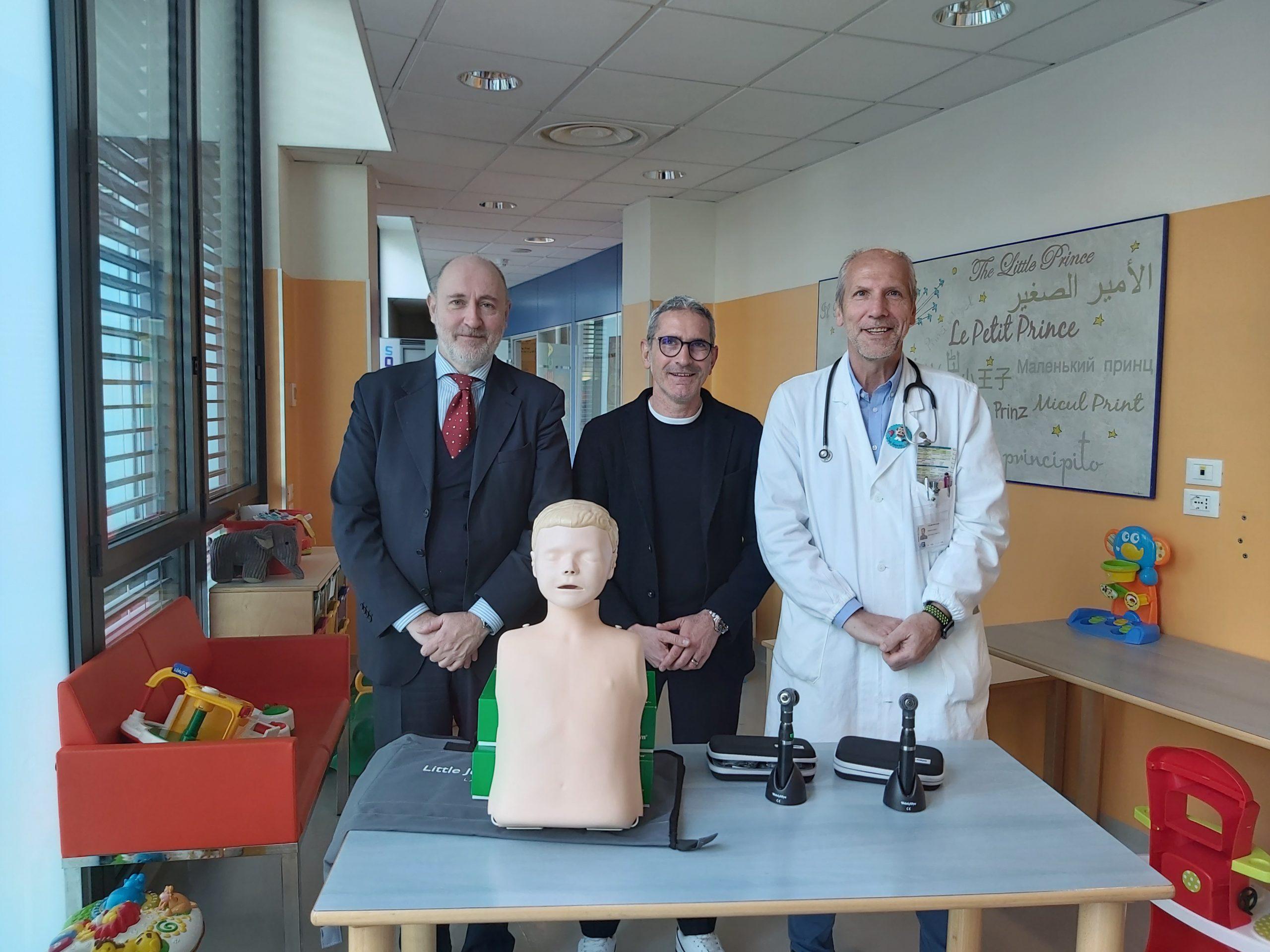 Tre nuovi strumenti ad alta tecnologia per la pediatria del Santo Stefano