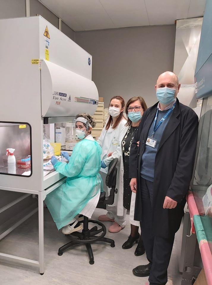 Arrivata anche la cappa per migliorare l'analisi del coronavirus