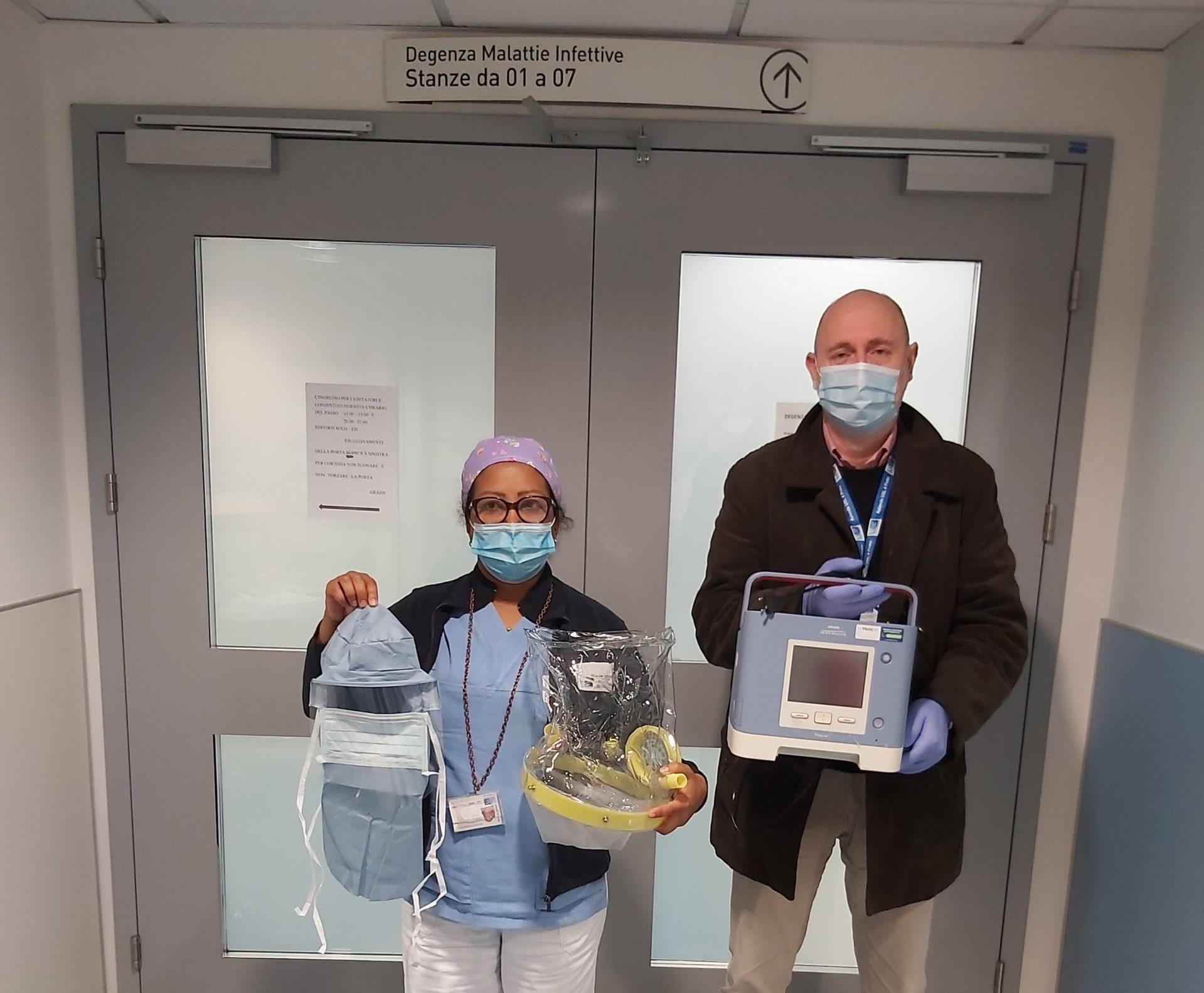 La Fondazione AMI consegna al personale sanitario strumenti e dispositivi di protezione