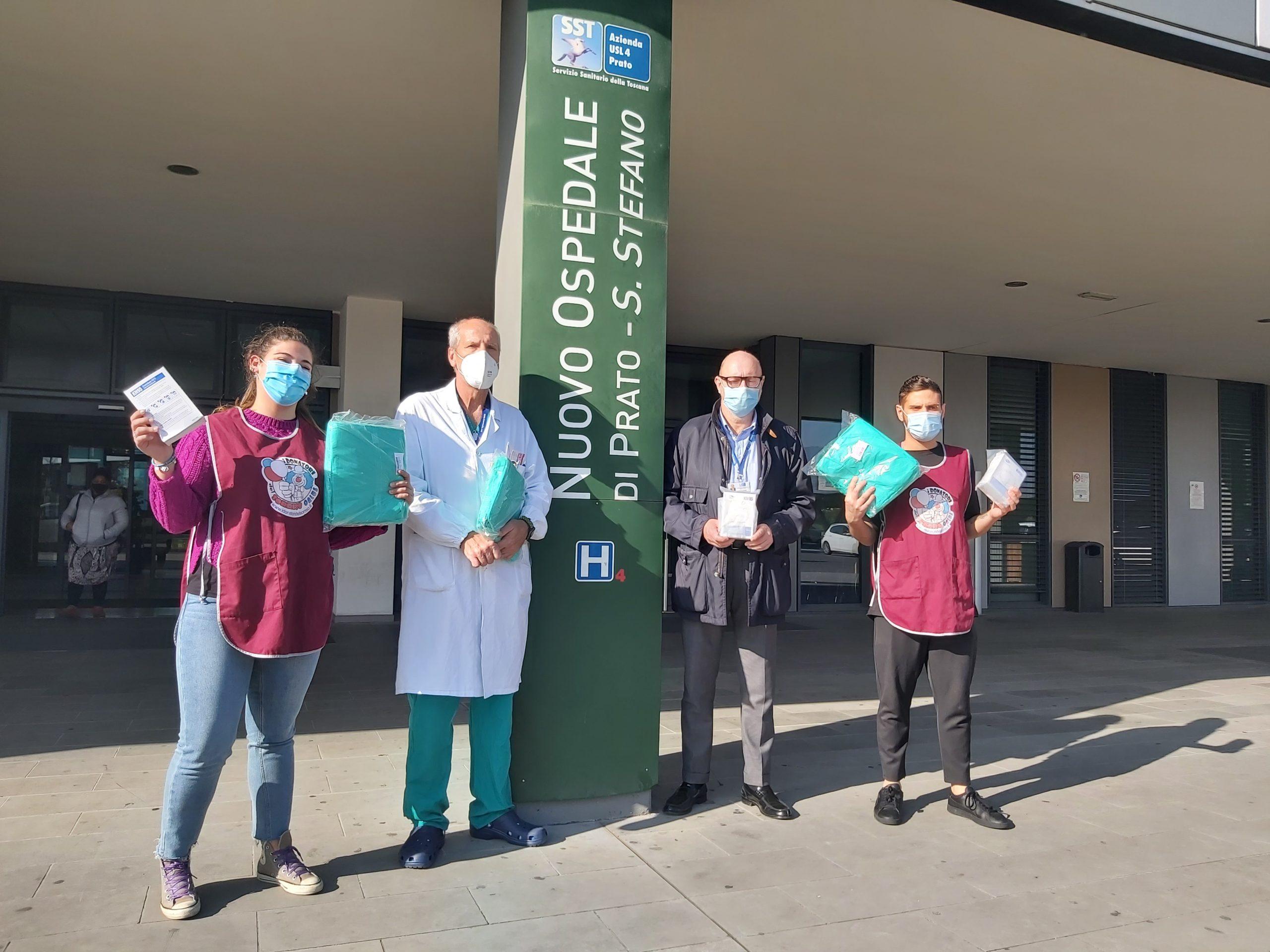 Consegnati dispositivi DPI per il reparto di pediatria del S.Stefano di Prato
