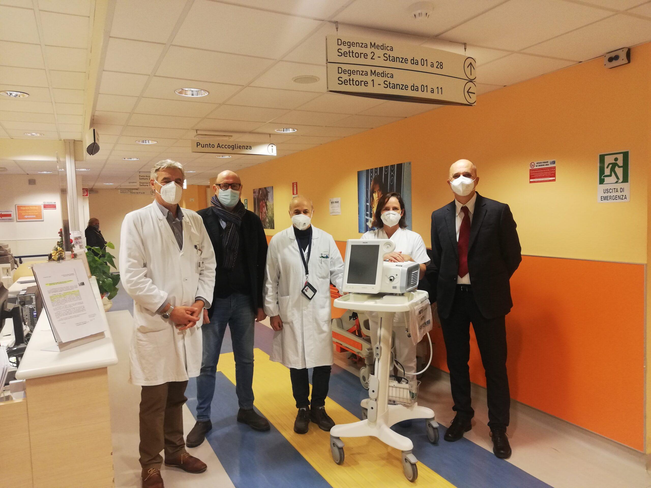 5 ventilatori polmonari donati al Santo Stefano
