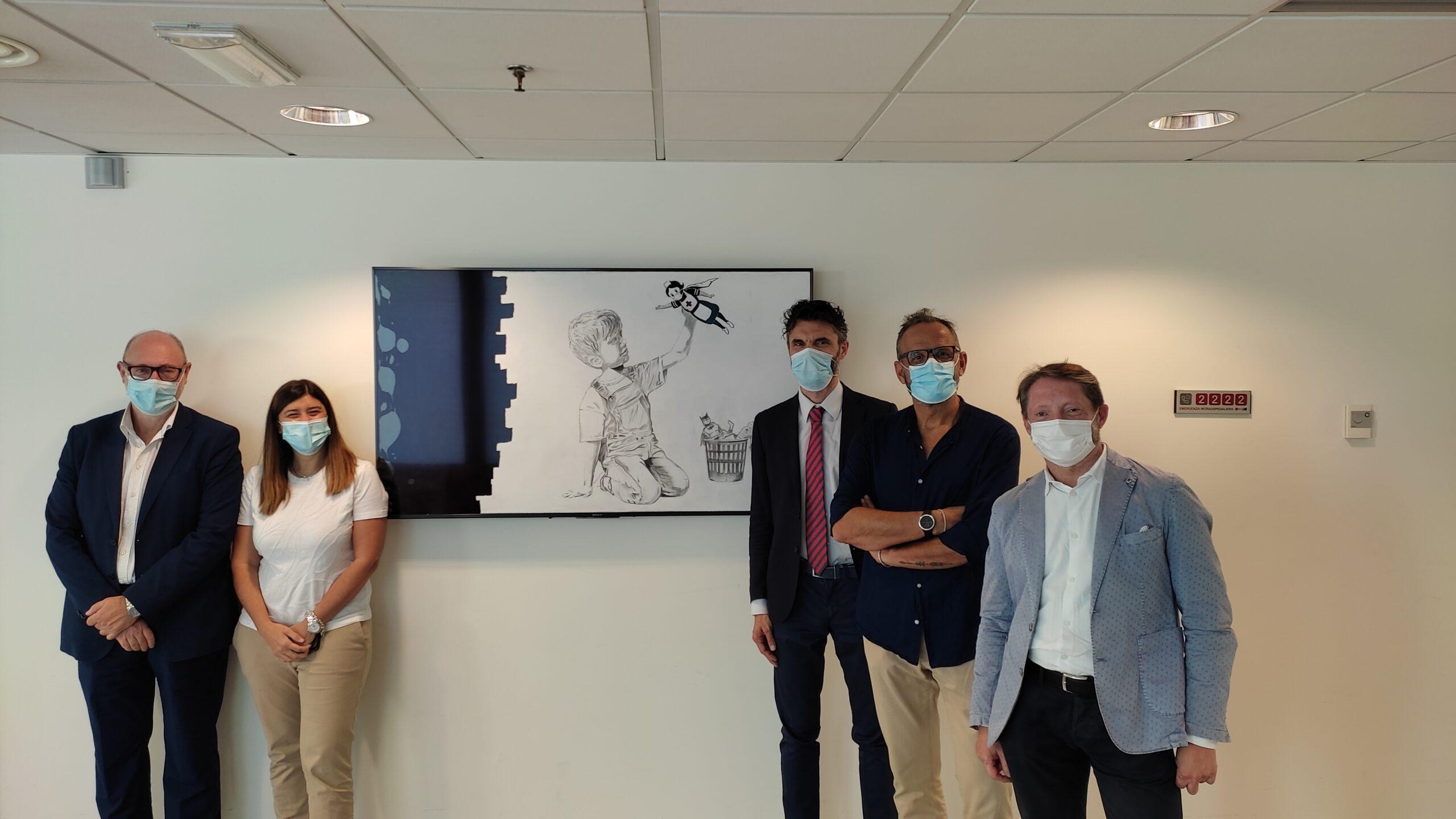 L'azienda NET Studio dona all'Ospedale di Prato  un' opera d'arte dedicata a tutti gli operatori sanitari